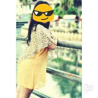 Dress Yellow Transparan