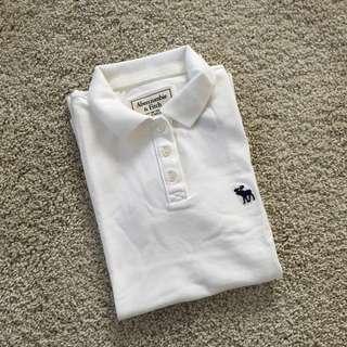 White Abercrombie & Fitch Polo