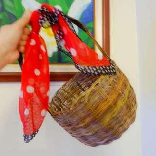 Wicker Tab Basket