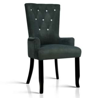 French Provincial Dining Chair - Grey SKU: FA-CHAIR-DIN116-GY