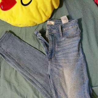 high waist Hollister jeans size 25