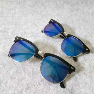 Club Mirror Sunglasses-Blue