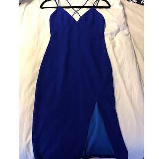 Indra Dress Cobalt: Size XS