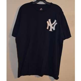 VTG Majestic Yankees Navy T-Shirt Size L
