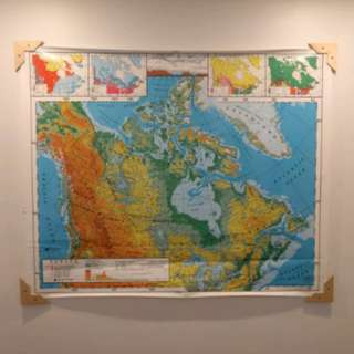 Vintage Map of Canada (Large Classroom Size - Nystrom)