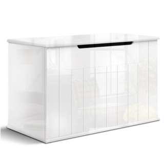 Baby Toy Box Nursery Wood Storage Chest Organizer White