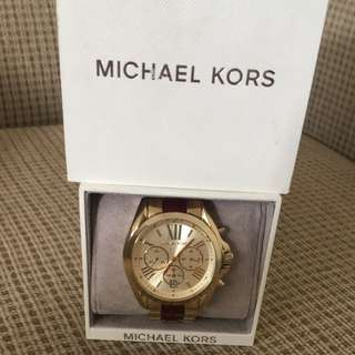 Gold and burgundy micheal kors watch!!!
