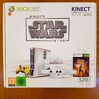 XBOX 360 SLIM KINECT 320GB MODDED STAR WARS LIMITED EDITION