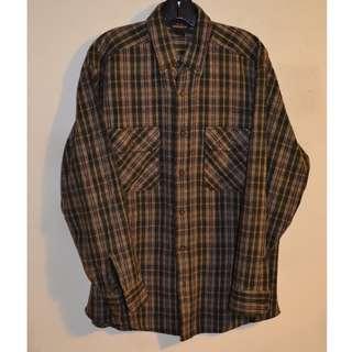 Mens Woolrich Flannel Shirt Size M