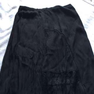 Black Maxi Skirt Size XS