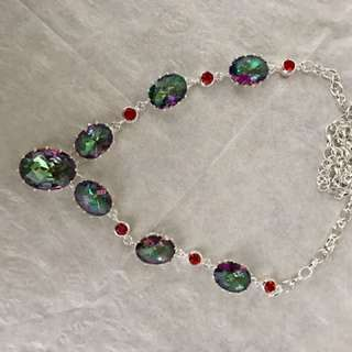 925 sterling silver mystical fire topaz necklace