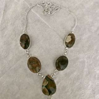 Real gemstone necklace