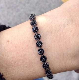 Black gold plated adjustable bracelets new in packing