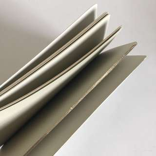 HAY blank notebook - grey with gold edging
