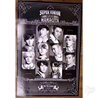 Super Junior/Suju/SJ Poster- Mamacita (Version A) (Official, Kpop)