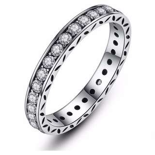 Pandora inspired rings sterling silver stackable
