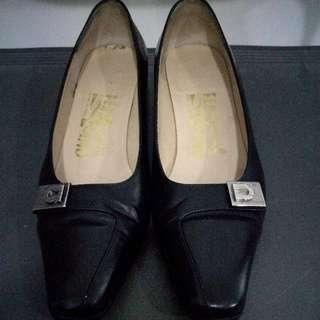 Authentic Ferragamo Black Heels