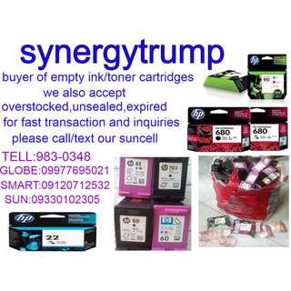 buyer of empty ink toner used blank cartridges