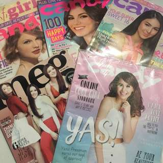 REPRICED!!! Candy and Meg Old Magazines