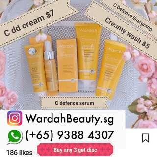 Wardah C  Dd Cream $7 , C Defence Energizing Creamy Wash $5 Wardah Skincare Halal Cosmetic