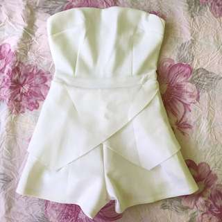 Jumpsuit Something Borrowed White Size XS