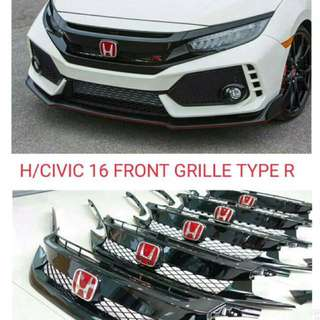 Front grille type R Honda Civic 16