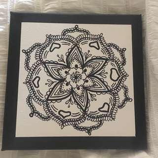 Mandala print on small canvas