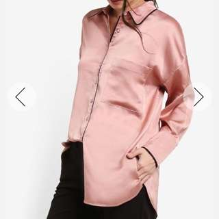 Zalora Pyjama Silk Shirt
