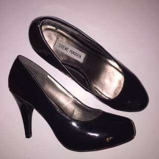 Real Steve Madden Black Patent Leather Heels