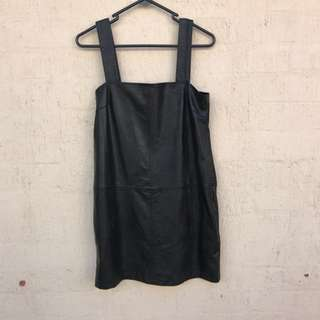 Missguided Pleather Tunic Dress