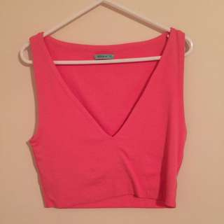 Hot Pink Kookai Crop