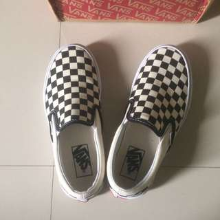 100% Original Vans Slip On Checkerboard Size 4.5