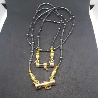 Kruba Noi Necklace Takrut Amulet