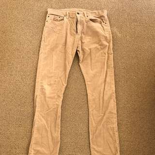 GAP Tan Slim Fit Corduroy Pants