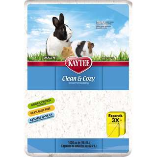 Kaytee Clean and Cozy Small Animal Bedding White 49.2L for Hamsters, Gerbils and other small animals