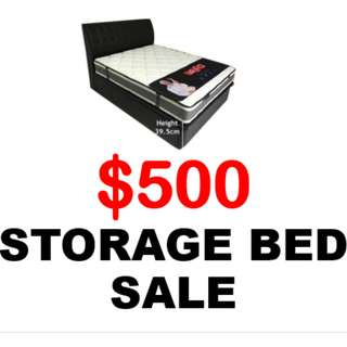 👍 BRAND NEW! SINGLE/ SUPER SINGLE/ QUEEN SIZE HIGH COMPARTMENT STORAGE BED PROMO 👍