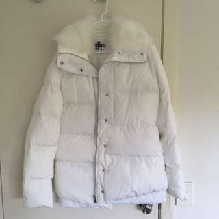White Fake Fur Jacket PRETTY LITTLE THING