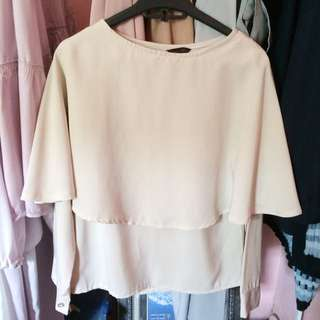 Cape Blouse Cream