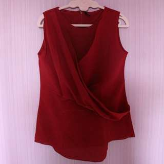 Red Layered Top