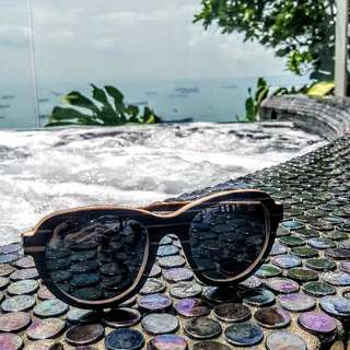 Sunglasses wooden