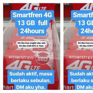 Paket GSM 13 GB 4G LTE 24 Jam