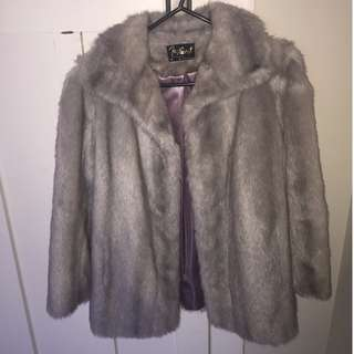 Lovely Vintage Faux Fur Coat - D L Ellis from Auckland