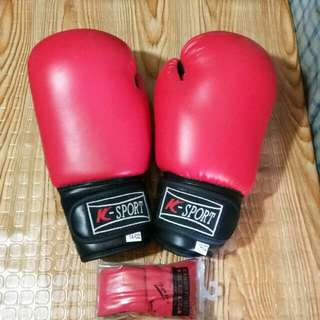 Red Boxing Gloves w/ Free Hand Wraps