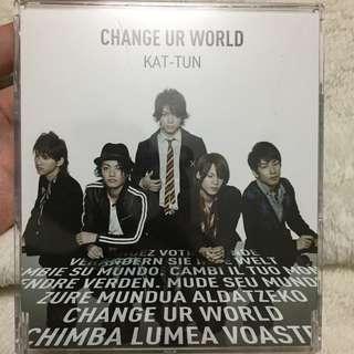 KAT-TUN change ur world 拆封沒聽過九成新含運價