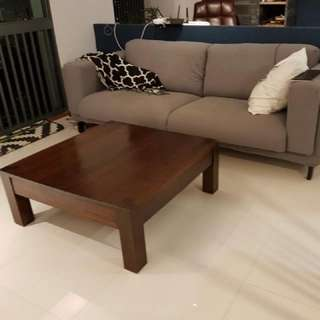 Solid Wood Coffee Table. Square shaped