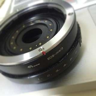 Micro 4/3 to Canon EOS lens adapter