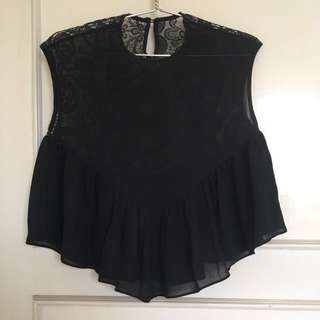 Brokat black top