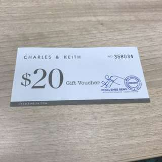 Charles and Keith vouchers $100 Jan 2018