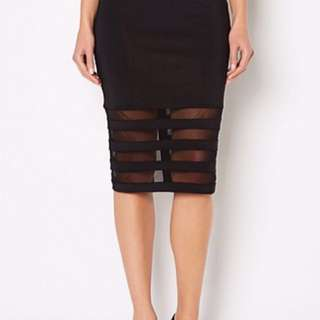 Pencil Skirt Sheer Panels