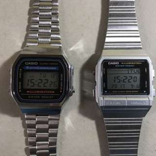 Vintage Casio watches not Timex Seiko